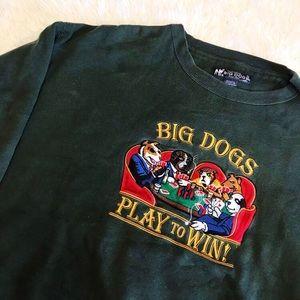 Vintage big dogs embroidered crewneck